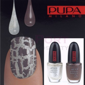 PUPA NAIL ART KIT 992 WHITE / TAUPE - ZESTAW DO MANICURE