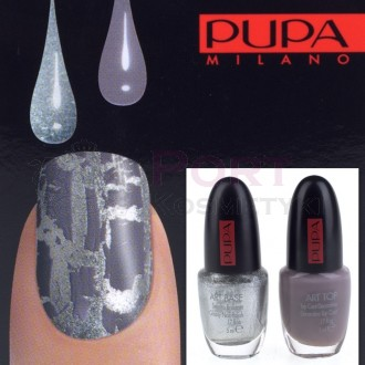 PUPA NAIL ART KIT 994 SILVER / GREY VIOLET - ZESTAW DO MANICURE