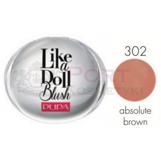 PUPA LIKE A DOLL COMPACT BLUSH 302 absolute brown - PRASOWANY RÓŻ DO POLICZKÓW