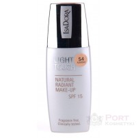 ISADORA LIGHT TOUCH NATURAL RADIANT MAKE-UP SPF15 - Podkład do twarzy 54 ALMOND