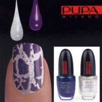 PUPA NAIL ART KIT 891 WHITE / VIOLET - ZESTAW DO MANICURE