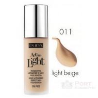 PUPA Active Light Foundation 011 LIGHT BEIGE - Beztłuszczowy podkład do twarzy