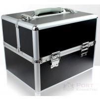 Kufer kosmetyczny dla wizażystek, kosmetyczek, fryzjerek - czarny