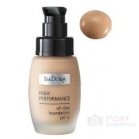 ISADARA HIGH PERFORMANCE ALL-DAY FOUNDATION NR.04 Medium nougat SPF 12 - PODKŁAD WYGŁADZAJĄCY